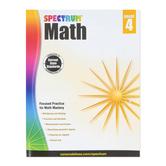 Spectrum, Math Workbook, Paperback, 160 Pages, Grade 4