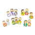 Playside Creations, Famous Bible Characters Foam Finger Puppet Set, Multi-Colored, 13 Puppets