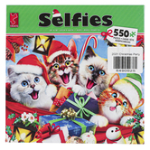 Ceaco, Selfies Christmas Jigsaw Puzzle, Cat or Dog Design, 24 x 18 inches, 550 Pieces