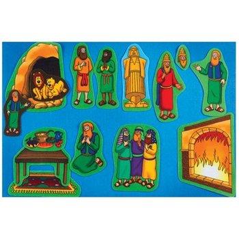 Little Folk Visuals, Beginner's Bible Daniel and the Lions Den Felt Set, 16 Pieces