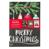 Renewing Faith, Peace & Joy Christmas Notebooks, 5 1/2 x 8 1/4 inches, 1 Each of 3 Designs