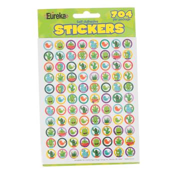 Eureka, A Sharp Bunch Mini Stickers, .38 Inch, Multi-Colored, Pack of 704