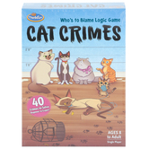 ThinkFun, Cat Crimes: Who's To Blame Logic Game, Single Player, Ages 8 and Older