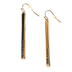 Radiant Sol, God Is Love Gold Bar Dangle Earrings, Zinc Alloy and Iron, Gold