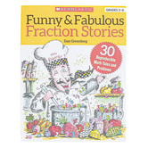 Scholastic, Funny and Fabulous Fraction Stories Workbook, Reproducible Paperback, 88 Pages, Grades 3-6