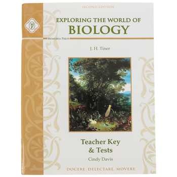 Memoria Press, Exploring The World of Biology Teacher Key and Tests, Paperback, Grades 5-8