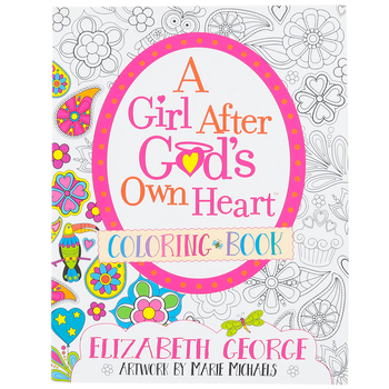 Harvest House, Girl After God's Own Heart Coloring Book, Paperback, 80 Pages, Ages 8-12
