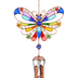 Carson Home Accents, Butterfly Suncatcher Garden Wind Chime, Blue or Yellow, 27 inches