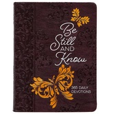 Pre-buy, Be Still and Know: 365 Daily Devotions, by BroadStreet, Imitation Leather, Brown