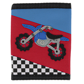 Stephen Joseph, Motocross Tri-Fold Wallet, Ages 3 to 6 Years Old, 10 x 4 1/2 inches