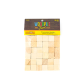 Woodpile Fun, Natural Wooden Blocks, 9/16 inch, 72 Count