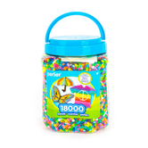 Perler, Fuse Beads, Assorted Colors, 18,000 Count Canister