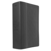 NLT Illustrated Study Bible, Duo-Tone, Black and Onyx, Thumb Indexed