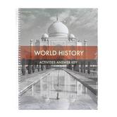 BJU Press, World History Student Activities Answer Key, 5th Edition, Grade 10