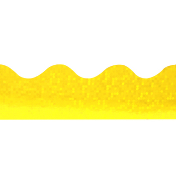 Renewing Minds, Scalloped Glimmer Border Trim, 32 Feet, Yellow