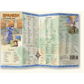 Bilingual Books, SPANISH Language Map, Quick Reference Guide, Laminated and Folded