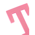 Glitter Foam Alphabet Letter Upper Case - T, 4 x 5.5 x .50 Inches, 1 Each, Assorted Colors