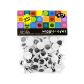 Tree House Paste-On Wiggle Eyes, 9/16 Inches Diameter each, Set of 104, Ages 4 and up