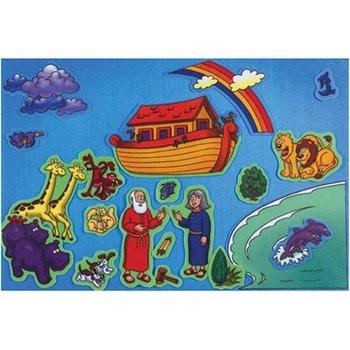 Little Folk Visuals, Beginner's Bible Noah's Ark Felt Set, 21 Pieces