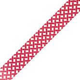 Isabella Collection, Wide Border Trim, 38 Feet, Red and White Lattice