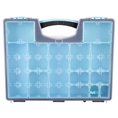 ArtBin, Quick View Lift-Out Storage Case, Black & Teal, 13 1/4 x 16 1/2 x 2 1/2 inches
