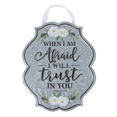 Brother Sister Design Studio, Psalm 56:3 Trust In You Metal Wall Decor, 8 x 6.50 x 0.06 Inches