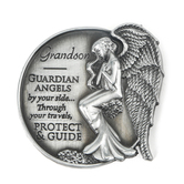 AngelStar, Grandson Guardian Angel Visor Clip, Zinc Alloy, 2 1/2 inches