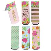 Brother Sister Design Studio, Floral Inspirational Magnetic Bookmarks, 1 Each of 6 Designs