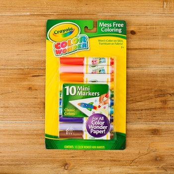 Crayola, Color Wonder Classic Mini Markers, 10 Markers