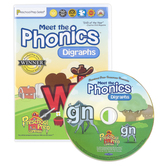 Preschool Prep Company, Meet the Phonics: Digraphs DVD, 65 Minutes, Grades PreK-1