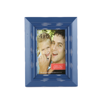 Distressed Rustic Wood Photo Frame, 4 x 6 inches, Blue