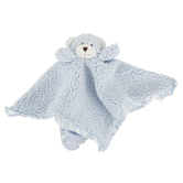 Stephan Baby, Cuddle Bud Sherpa Plush Bear Blankie, Polyester and Cotton, Blue, 18 inches