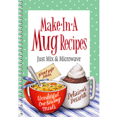 Product Concept Manufacturing, Make in a Mug Microwave Recipe Cookbook, 64 pages