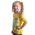 Cherished Girl, Nehemiah 8:10 Joy of the Lord, Kid's Short Sleeve T-shirt, Daisy Yellow, Youth Small
