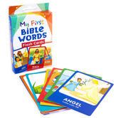 Barbour Kidz, My First Bible Words Flash Cards, 3 1/2 x 5 1/4 inches, 50 Cards, Ages 3 & Older