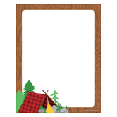 Wander Ridge Collection, Letterhead, Camping Theme, 8.5 x 11 Inches, Multi-Colored, 50 Sheets