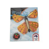 Heebie Jeebies, Wind up Australian Butterflies, Assorted, 4.5 x 4.5 Inches, 3 Pieces, Ages 4 and up