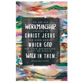 Salt & Light, We Are His Workmanship Church Bulletins, 8 1/2 x 11 inches Flat, 100 Count