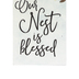 P. Graham Dunn, Our Nest Is Blessed Word Block, Pine Wood, 3 1/2 x 1 5/8 inches