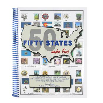 A Helping Hand, Fifty States Under God Workbook, Spiral, Grades 3-12