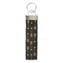Basically Yours, Arrows Wristlet Keychain, Black and Gold, 5.50 Inches, 1 Piece