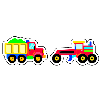 TREND enterprises Inc., Construction Vehicles superShapes Stickers, Multi-Colored, Pack of 200