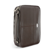 Christian Art, Brown Lux-Leather Organizer Bible Cover, Multiple Sizes Available