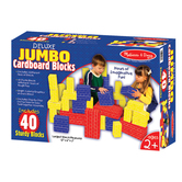 Melissa & Doug, Deluxe Jumbo Cardboard Blocks, Ages 2 to 5 Years Old, 40 Pieces