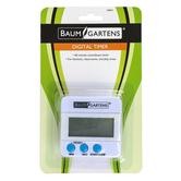 Baumgartens, Modern Digital Timer, White, 2 1/2 x 2 1/4 inches