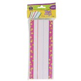 Teacher Created Resource, Confetti Word Strips, 4 Designs, 76 Pieces, 8 x 3 Inches