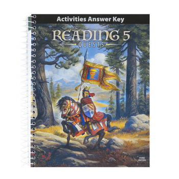 BJU Press, Reading 5 Student Activities Answer Key, 3rd Edition, Paperback, Grade 5