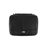 Christian Art, Two-Fold Leather-Like Organizer Bible Cover, Black, Multiple Sizes Available