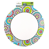 Isabella Collection, Two-Sided Decoration, 15 x 15 Inch, Lattice and Kaleidoscope Design, 1 Each