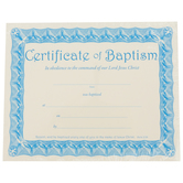 Warner Press, Certificate of Baptism, 8  x 10 inches, Set of 6